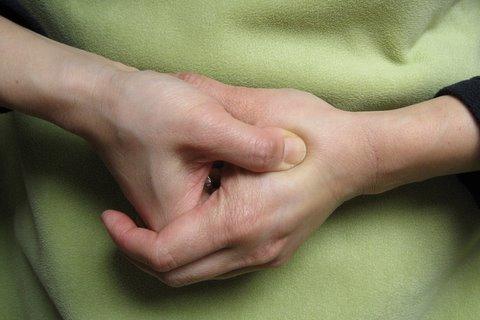 tense hands