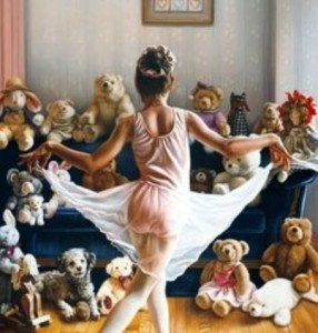 curtseying to bears.FB