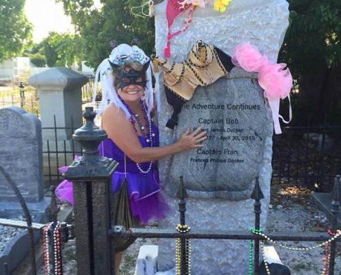Fran Decker.Fantasy Fest grave